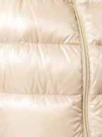 Herno - Gold Faux Fur Collar Puffer Vest