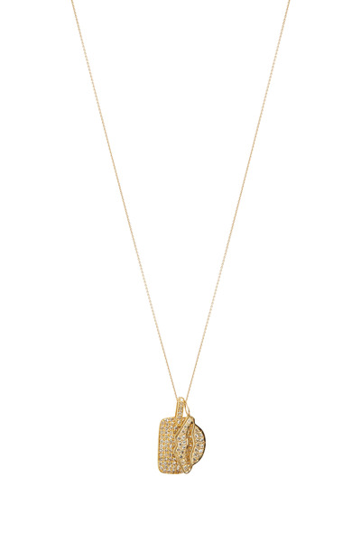 Tulah Jem - Yellow Gold Dog Tag Chain Necklace
