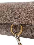 Chloé - Faye Metallic Gold Grained Leather Mini Crossbody