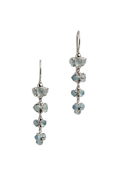 Paul Morelli - White Gold Aquamarine Diamond Drop Earrings