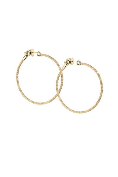 Paul Morelli - 18K Yellow Gold Diamond Hoops