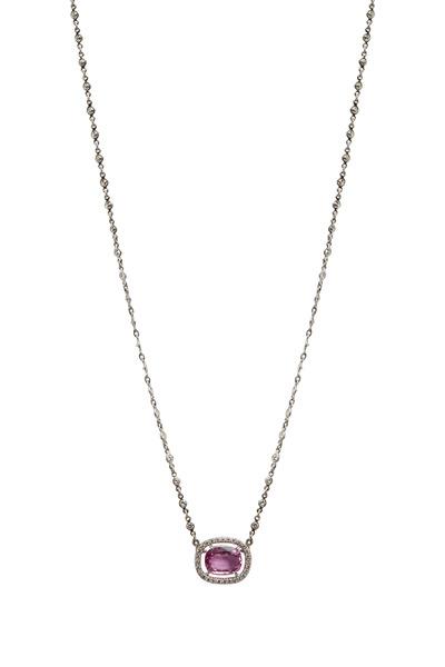 Eclat - Estate Pink Sapphire & Diamond Pendant
