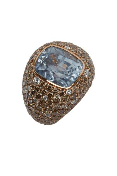Eclat - Rose Gold Sapphire & Diamond Ring