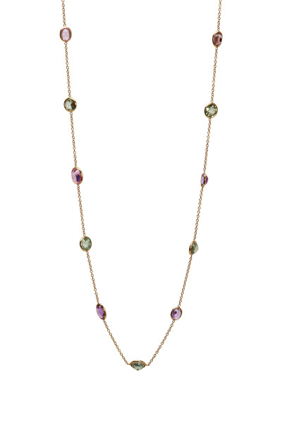 Renee Lewis - Yellow Gold Sapphire Gemstone Necklace