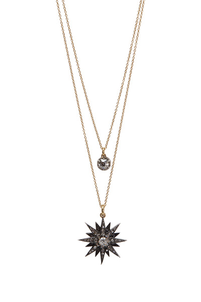 Renee Lewis - Yellow Gold Diamond Starburst Necklace