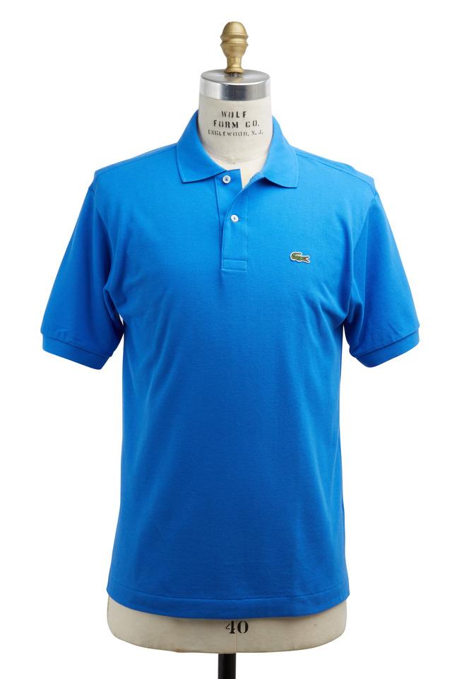 Medium Blue Cotton Polo