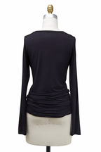Majestic - Black Viscose Top