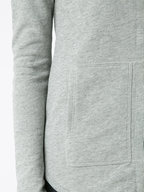 A T M - French Terry Grey Zip Front Hoodie