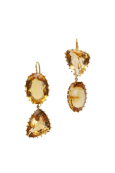 Renee Lewis - Yellow Gold Citrine Earrings