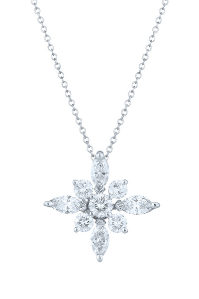 Kwiat - Star Platinum White Diamond Pendant