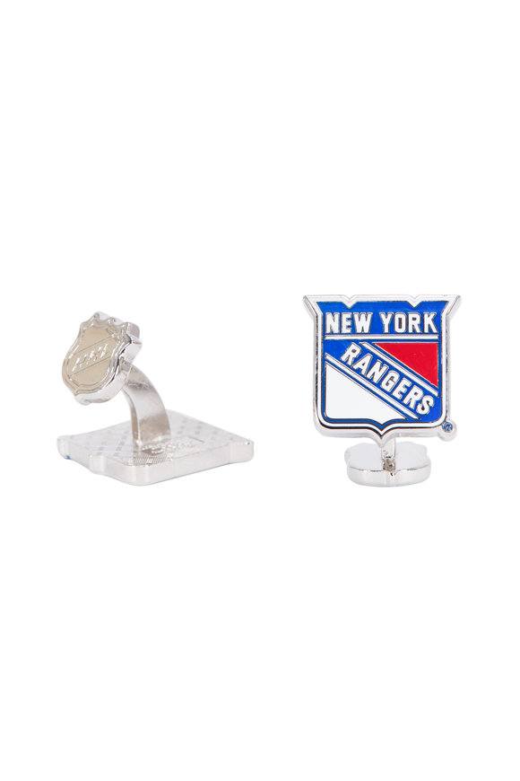 Cufflinks Inc Sterling Silver New York Rangers Cuff Links