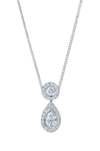 Kwiat - Silhouette Platinum Diamond Drop Pendant
