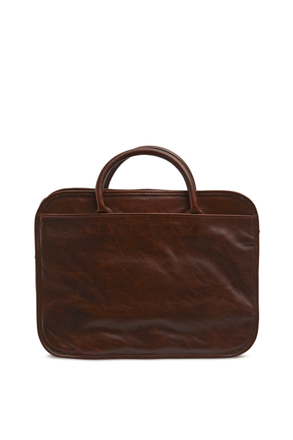 Moore & Giles Brown Titan Milled Luggage Case