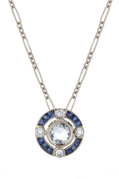 Kwiat - Sapphire & Diamond Pendant Necklace