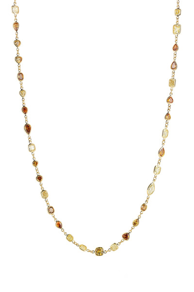 Kwiat - Yellow Gold Diamond String Necklace