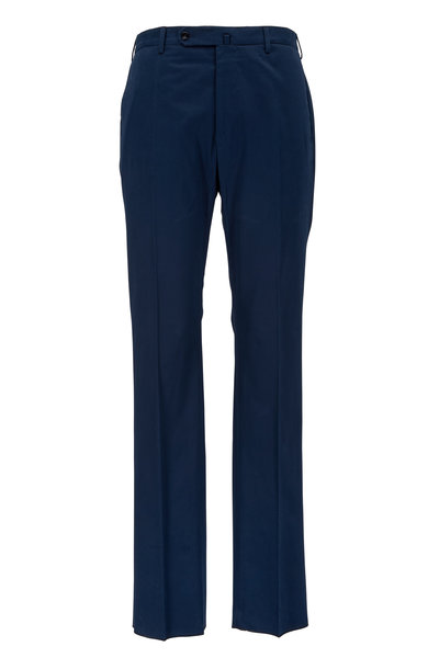 Incotex - Brando Navy Blue Cotton Trousers