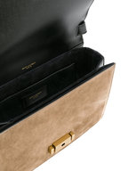 Saint Laurent - Bellechasse Black Leather & Taupe Suede Satchel