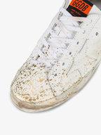 Golden Goose - Women's Superstar White & Gold Splatter Sneaker