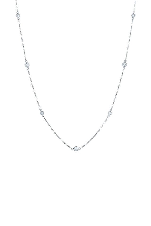 White Gold Diamond String Necklace