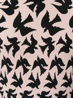 Alexander McQueen - Pink & Black Bird Print Fit To Flare Dress