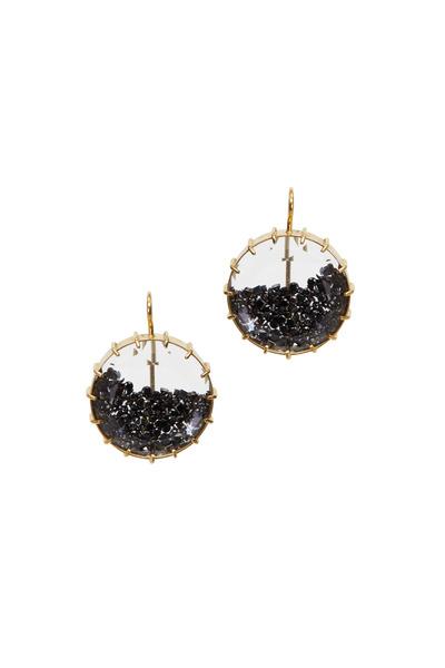 Renee Lewis - Yellow Gold Black Diamond Shake Earrings