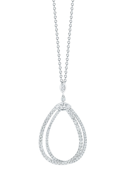 Kwiat - White Gold Diamond Pendant Necklace
