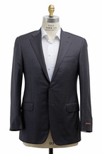 Hickey Freeman - Beacon Solid Charcoal Gray Worsted Wool Suit