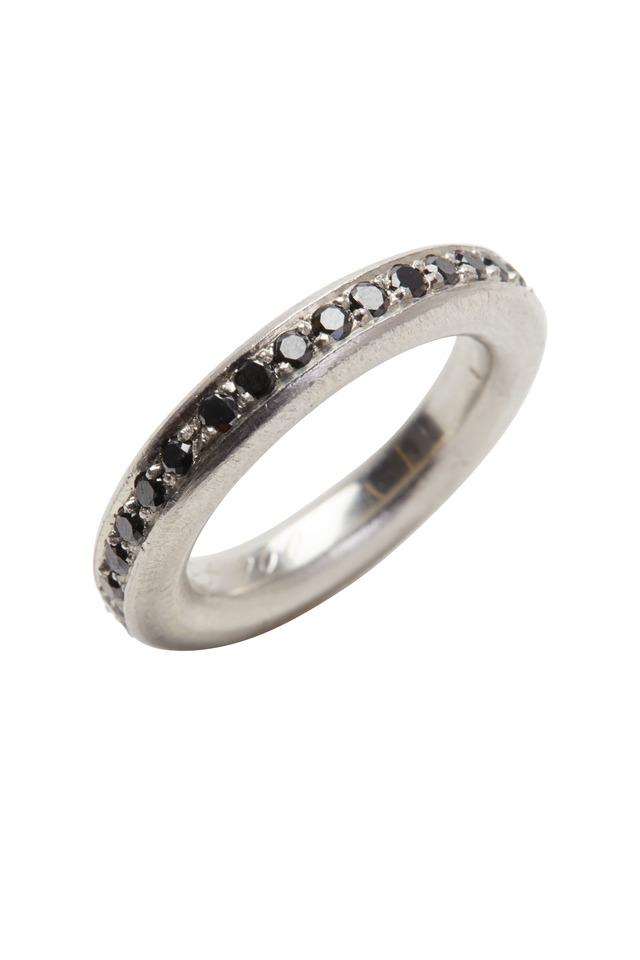 Platinum Black Diamond Intrique Ring