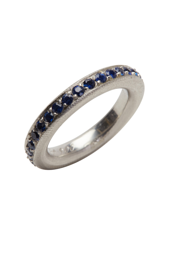 Platinum Sapphire Intrique Ring