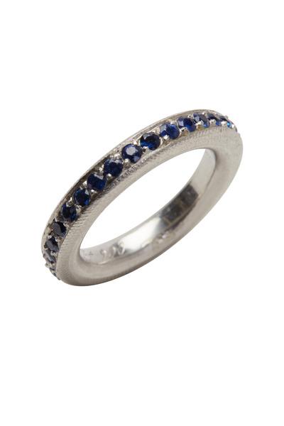 Kathleen Dughi - Platinum Sapphire Intrique Ring