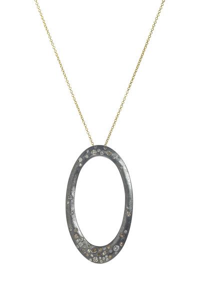 Todd Reed - Palladium Silver Diamond Pendant Necklace