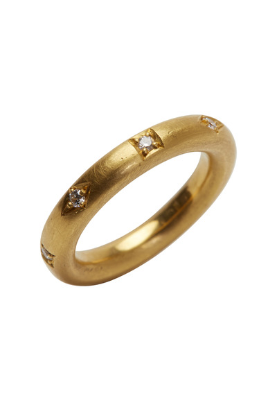 Kathleen Dughi - Ocho Yellow Gold White Diamond Ring
