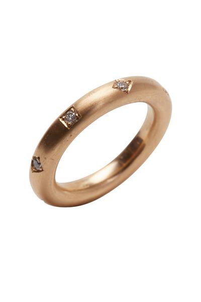 Kathleen Dughi - Ocho Rose Gold White Diamond Ring