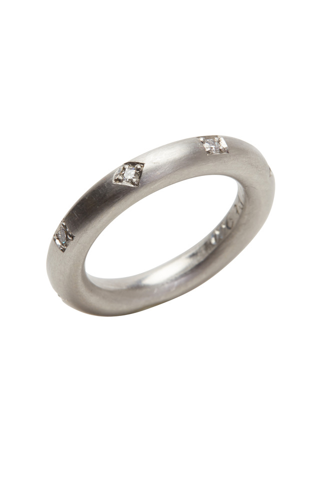 Ocho Platinum White Diamond Ring