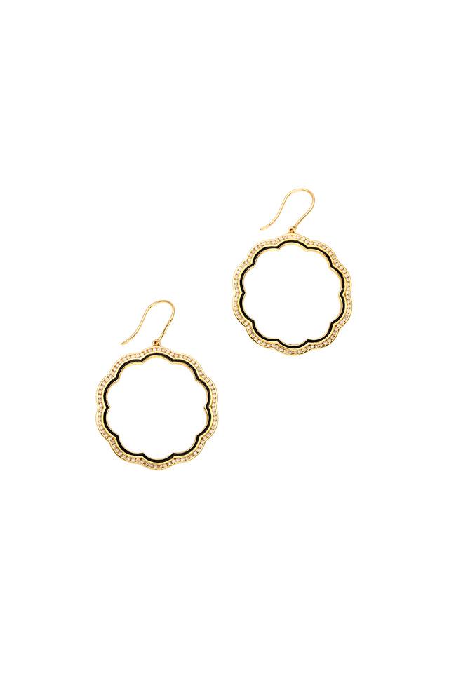Mogul Yellow Gold Diamond Flower Earrings