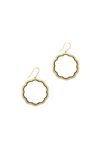 Syna - Mogul Yellow Gold Diamond Flower Earrings