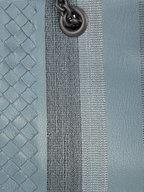 Bottega Veneta - Blue Leather & Metallic Intrecciato Tote