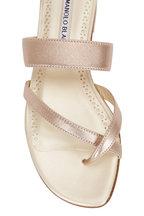 Manolo Blahnik - Susa Rose Gold Toe-Strap Flat Sandal