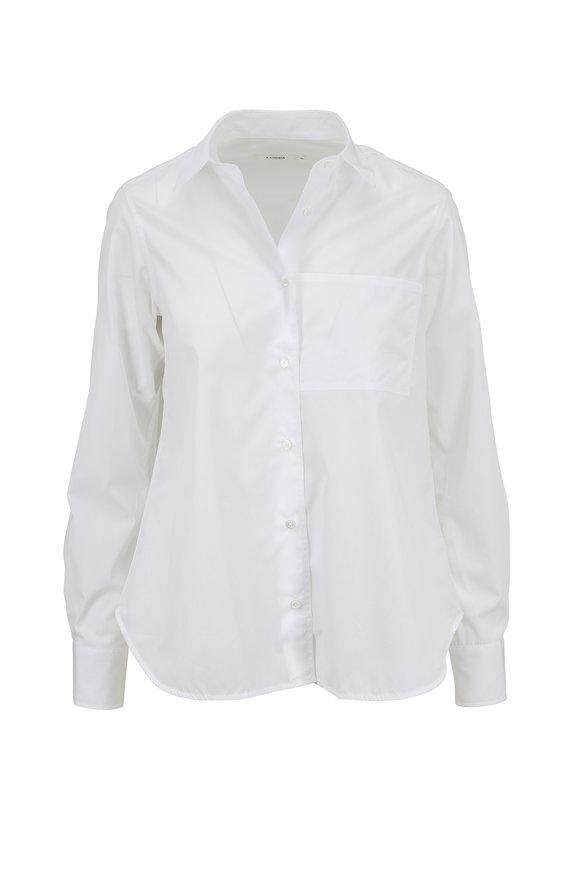 Lareida White Lenon Basic Cotton Button Down