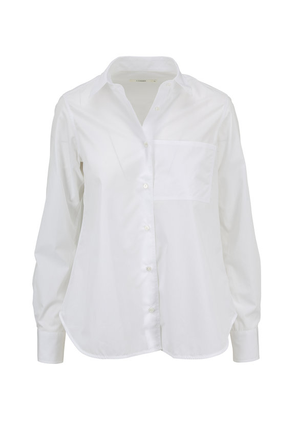 Lareida White Lenon Basic Cotton Button Down