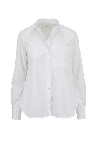 Lareida - White Lenon Basic Cotton Button Down
