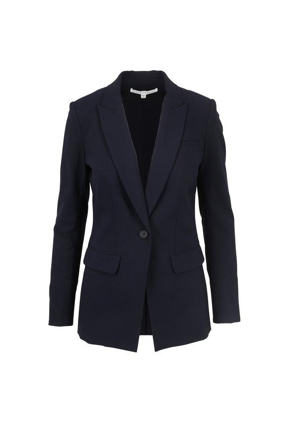 Veronica Beard Navy Blue Stretch Wool Classic Blazer