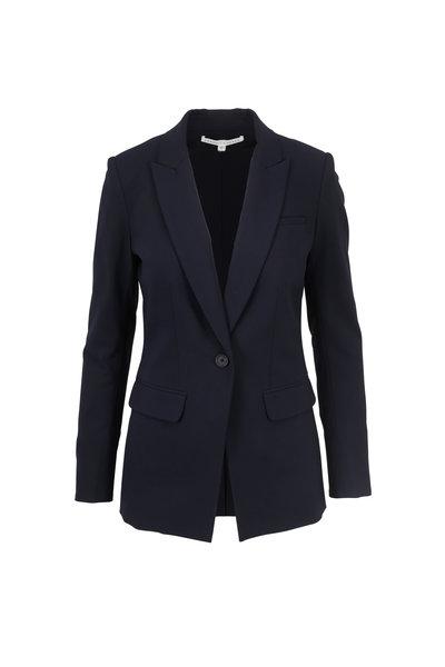 Veronica Beard - Navy Blue Stretch Wool Classic Blazer