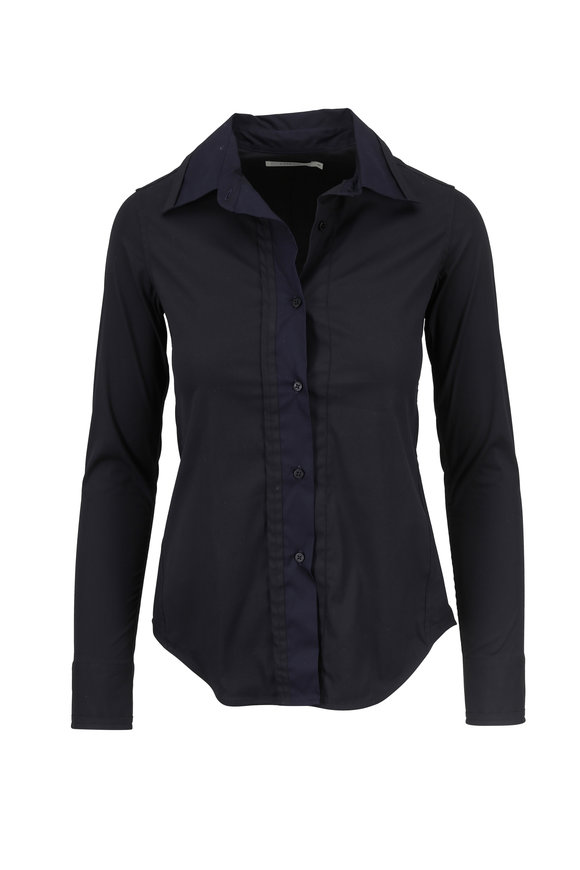 Lareida Stacy Black & Navy Button Down