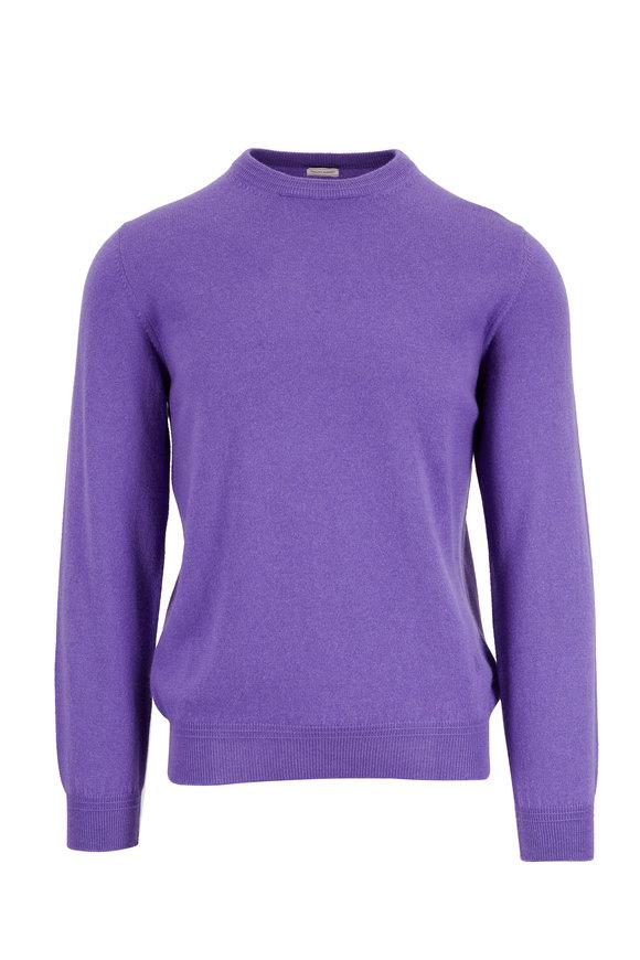 Luciano Barbera Purple Cashmere High Neck Sweater