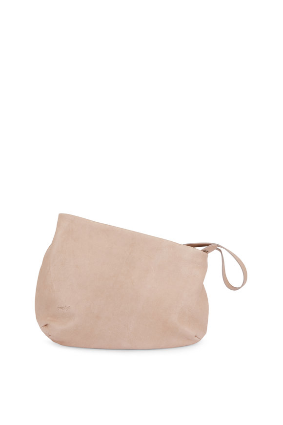 Marsell Beige Leather Asymmetrical Large Shoulder Bag