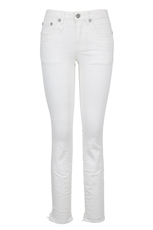 R13 Alison Skinny White Step Hem Cropped Jean