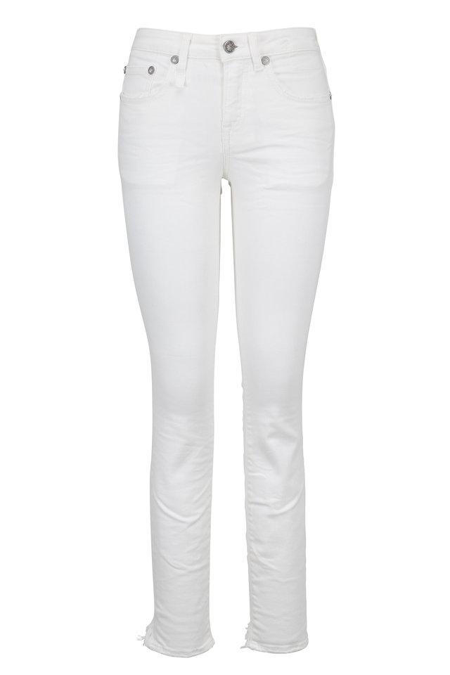 Alison Skinny White Step Hem Cropped Jean