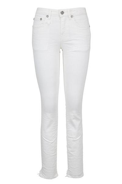 R13 - Alison Skinny White Step Hem Cropped Jean