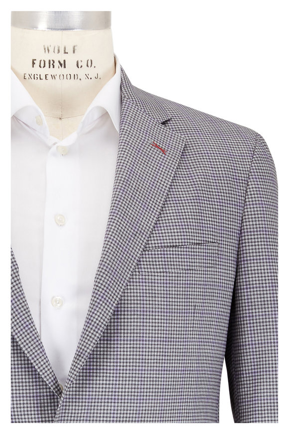 Samuelsohn Gray Check Wool Sportcoat